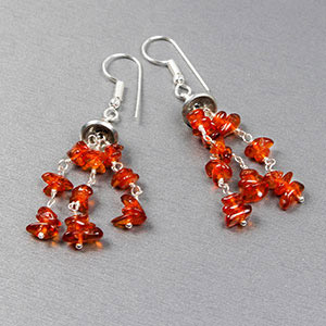 create amber earrings