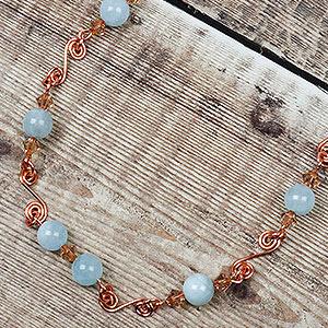 create aquamarine birthstone necklace