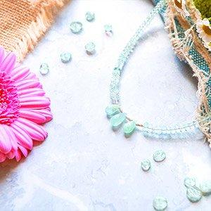 create aquamarine necklace