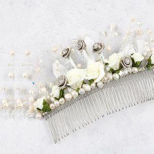 make autumn wedding hair comb