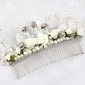 create autumn winter bride hair comb