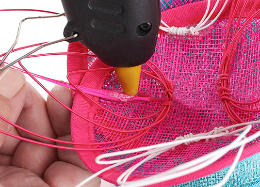How to make an avant garde water lily fascinator tutorial - step 7