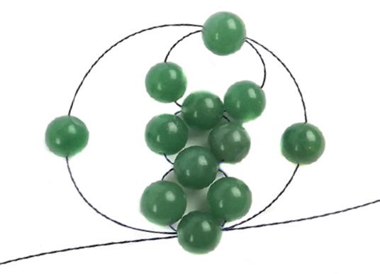 beaded bead tutorial step 3