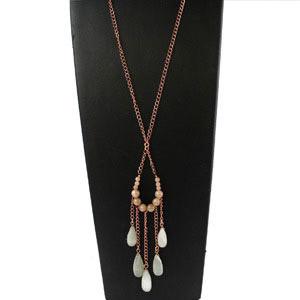 create a boho style moonstone pendant