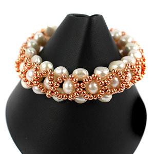 create a bridal bracelet