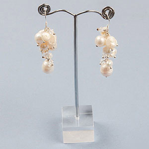 create bridal bubble earrings