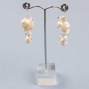 create bridal bubble earrings