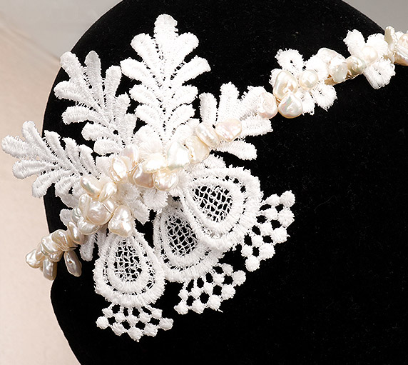 Create bridal hairband