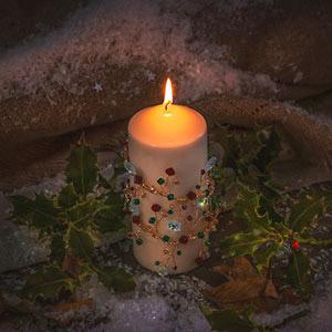 make christmas candle