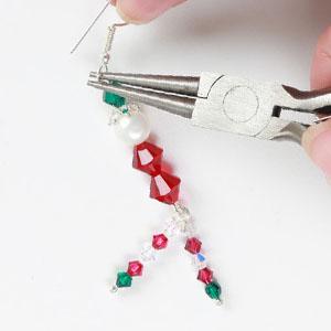 make christmas earrings