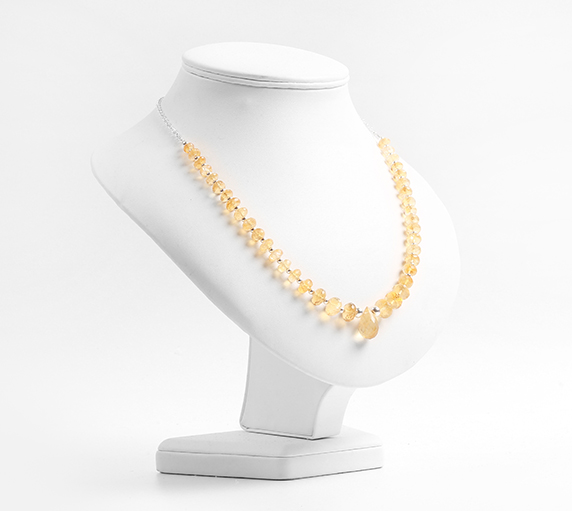 Create a Citrine bead necklace