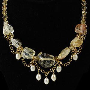 create a citrine necklace