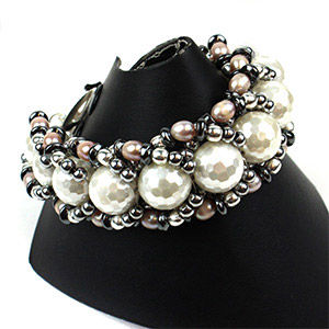 create flat spiral weave bracelet