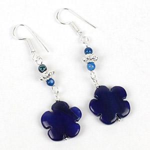 create flower drop earrings