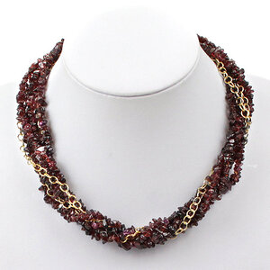 create a garnet twist necklace