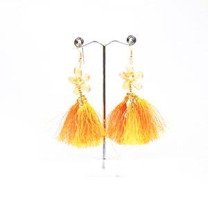 make gemstone fabric earrings