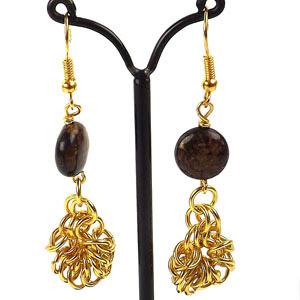 make jump ring flower earrings