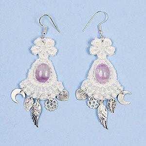 create lace earrings