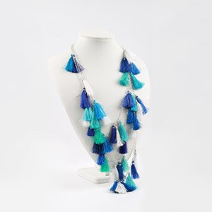 make longline tassel festival necklace