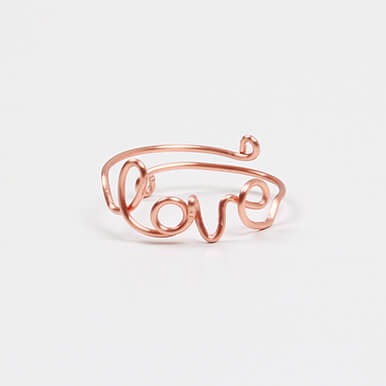 make love wirework ring