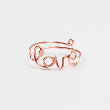 make love wirework ring