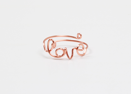 How to make a love wirework ring