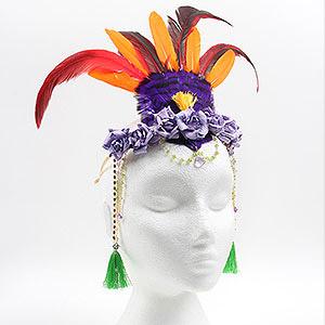 create mardis gras headpiece