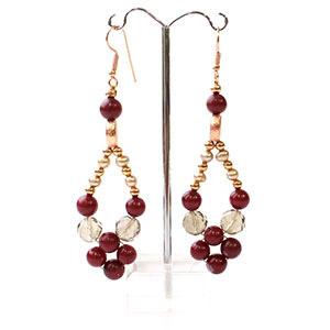 create marsala earrings