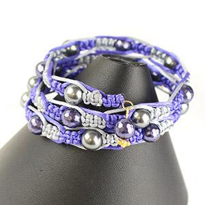 create memory wire macrame bracelet