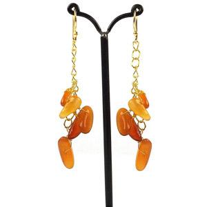 create nugget drop earrings