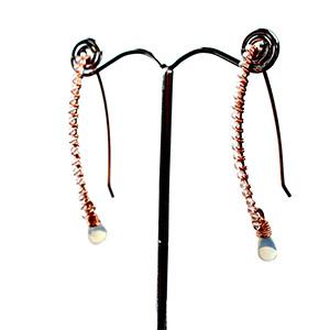 create opal earrings