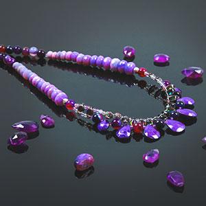make pantone purple necklace
