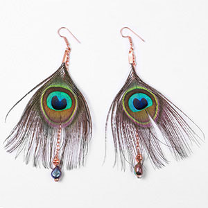 create peacock earrings