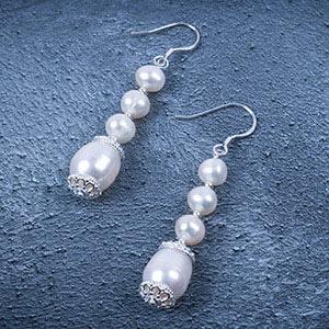 create pearl earrings