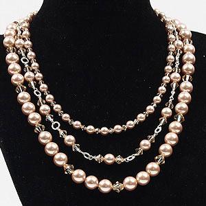 create pearl swarovski necklace