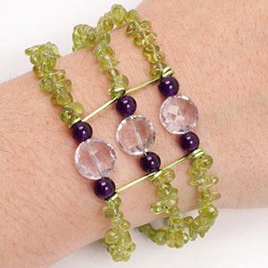 create peridot bracelet