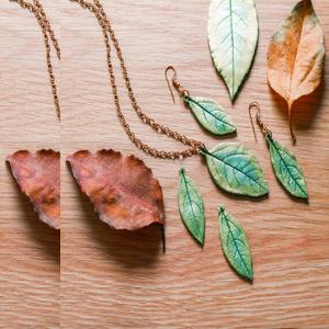 make polymer clay leaf