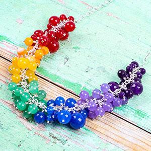 create rainbow necklace