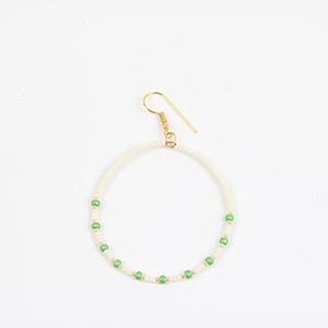 make seed bead hoop earrings