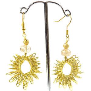 create spike weave earrings