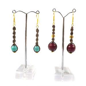 create spiral macrame earrings