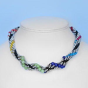 create spiral rope necklace