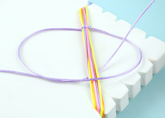 How to make a seed bead bracelet tutorial - step 9