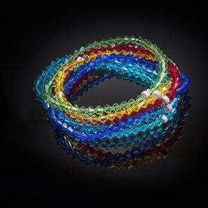 make swarovski rainbow stacker bracelet