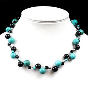 create three strand statement necklace