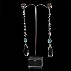 create topaz drop earrings