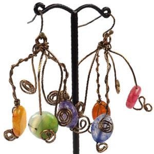 create twirl wire earrings