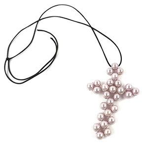 create wire cross pendant