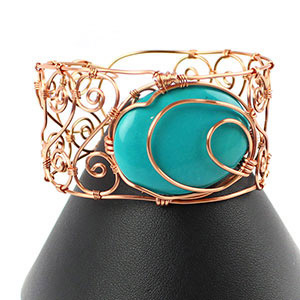 create a wire cuff bangle