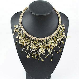 create wire fringe collar